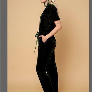 8a078eab38b Rachel Antonoff Pants - Rachel Antonoff Jewel Velvet Jumpsuit